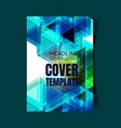 abstract report cover 4 vector image vector image