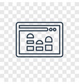 analytics concept linear icon isolated on vector image