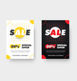 banner template in white and black colors vector image vector image