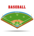 baseball field plan and formation players vector image