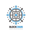 block chain logo template design electronic vector image vector image
