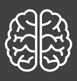 brain line icon brainstorm and idea medical vector image vector image