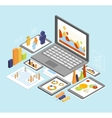 Business Analysis Isometric vector image