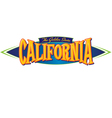 California The Golden State vector image vector image
