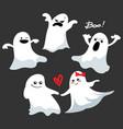 cartoon spooky ghost character set vector image vector image