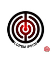 Circle in terms of logo Maze emblem Labyrinth vector image