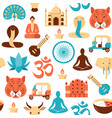 colorful india seamless pattern in flat style vector image vector image