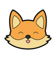 cute fox face cartoon vector image vector image