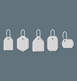 different shapes shopping sale tags and labels vector image