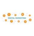 digital marketing infographic 10 steps circle vector image vector image