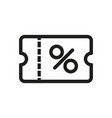 discount coupon icon simple vector image vector image