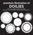 Doilies vector image vector image