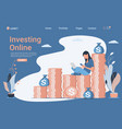 financial consulting investment and savings vector image
