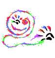 finger paints smile vector image