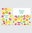flyer with fruits vector image
