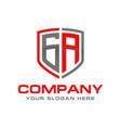 ga initial logo design vector image vector image