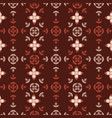 geometric fall leaves quilt seamless vector image