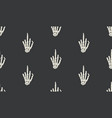 gesture sign rentgen hand bones seamless vector image vector image