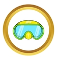 Goggles for diving icon vector image vector image