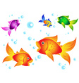 Golfish and friends vector image vector image