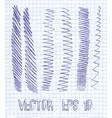 Hand drawn lines vector image