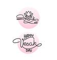 happy vesak day card handwritten lettering with vector image vector image