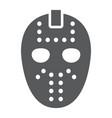 hockey mask glyph icon helmet and mask vector image vector image