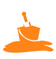 isolated sand bucket silhouette vector image vector image