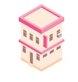 isometric building in 3d flat style vector image