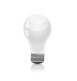 Light bulb isolated on white vector image