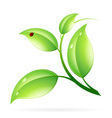 Logo Ecology Concept vector image vector image