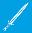 long sword icon white vector image vector image