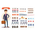man businessman character creating cartoon vector image