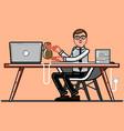 man freelancer get money vector image