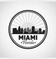 Miami florida design City and sunset icon vector image