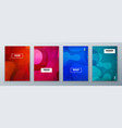 minimal modern cover design dynamic colorful vector image vector image