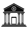 money bank icon simple style vector image