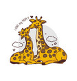 mothers day card with giraffesgiraffe mother vector image vector image