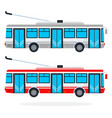 municipal trolleybuses flat isolated vector image