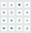 music colorful icons set collection of radio vector image vector image