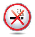 Non smoking Button vector image vector image