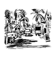 original black and white digital drawing of India vector image vector image