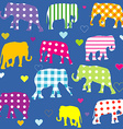 Patterned elephants background for kids vector image