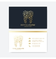 premium business card print template visiting vector image