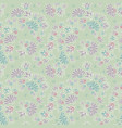 purple green pastel colored ditsy flowers seamless vector image vector image
