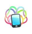 real colors phone vector image vector image
