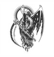 reaper devil wing vector image vector image