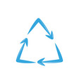 recycling symbol plastic flat icon blue vector image