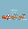 santa claus on sleigh full gifts vector image