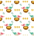 Seamless pretty pattern with stylized birds and vector image vector image